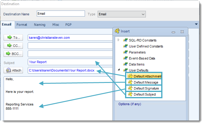 SSRS. Email Destination in SQL-RD
