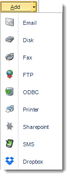 Crystal Reports: Default Destination in Options in CRD.