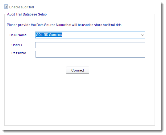 SSRS. Audit Trail in Options section in SQL-RD