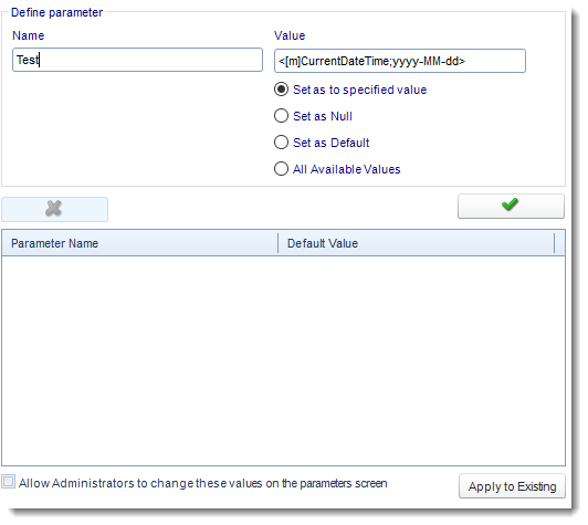 SSRS. Default Parameters in Options section in SQL-RD