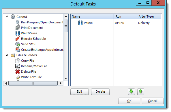 Crystal Reports: Default Tasks in CRD.