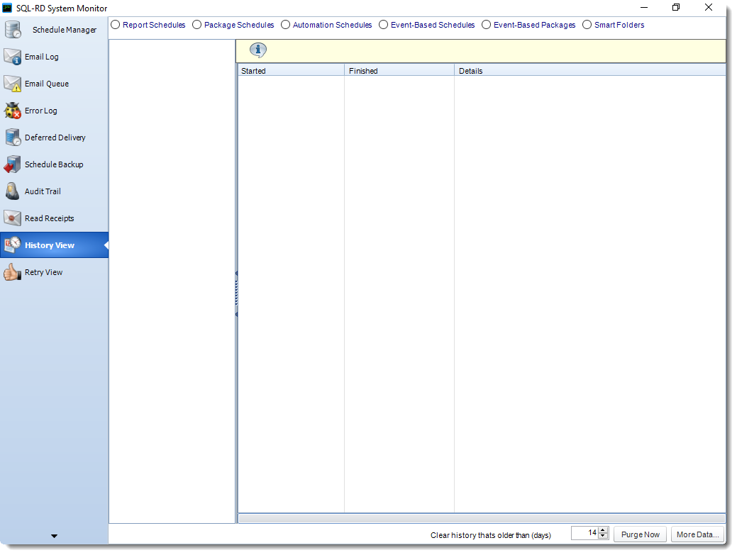 SSRS. History View in System Monitor in SQL-RD