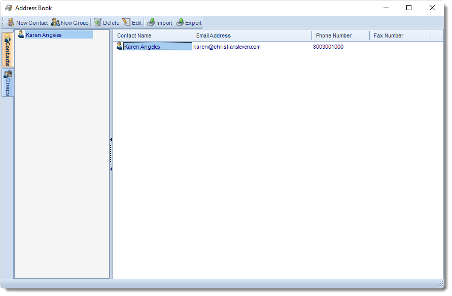 SSRS. Address Book in SQL-RD.