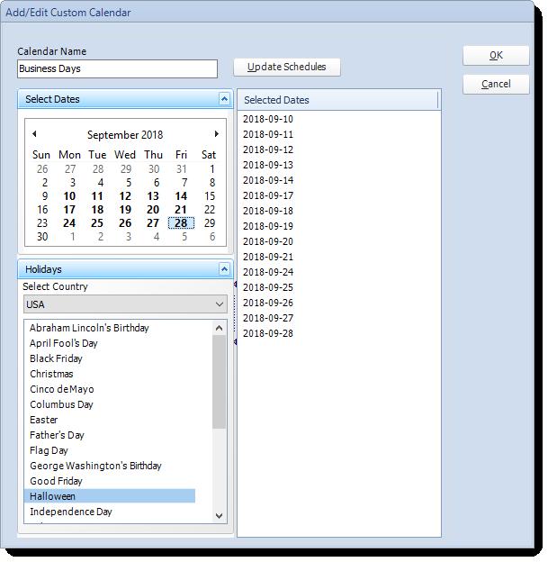 SSRS. Adding/Editing Custom Calendars in SQL-RD.