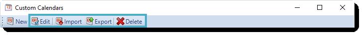SSRS. Custom Calendars in SQL-RD.