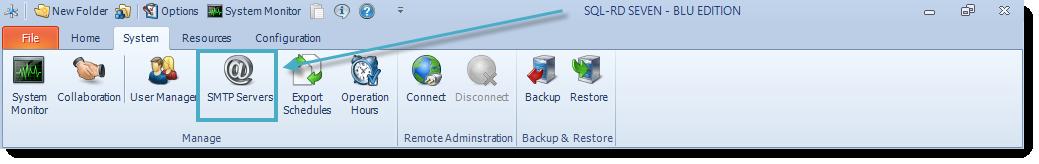 SSRS. SQL-RD System Menu.