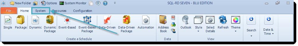 SSRS. SQL-RD Home Menu.
