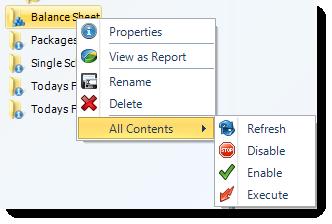 SSRS. Smart Folder Context Menu in SQL-RD.