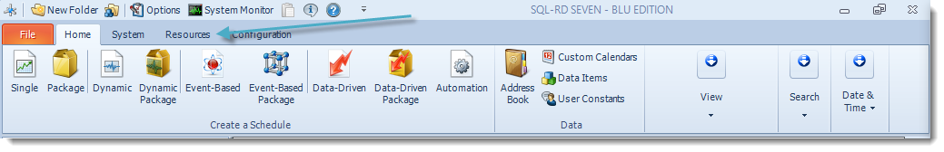 SSRS. SQL-RD Home Menu.