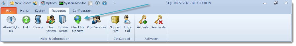 SSRS. SQL-RD Resources Menu.