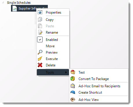 Power BI and SSRS. Single Report Schedule Context Menu in PBRS