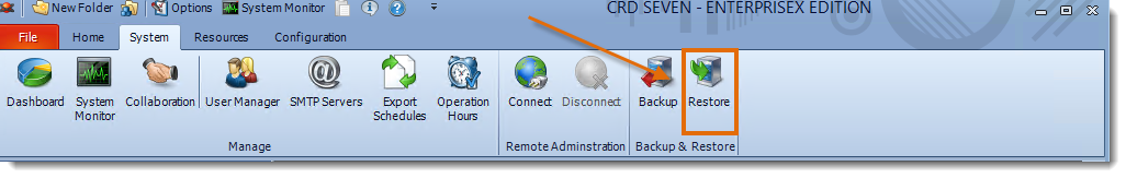Crystal Reports: CRD System Menu.