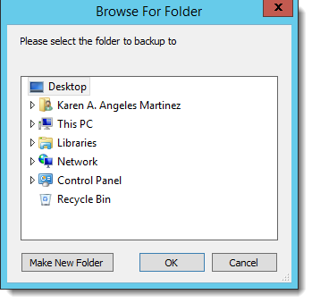 Crystal Reports: Browser folder for Backup in CRD.