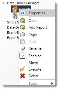 Power BI and SSRS. Data Driven Package Report Schedule Context Menu in PBRS.
