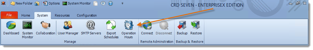 Crystal Reports: CRD System Menu.