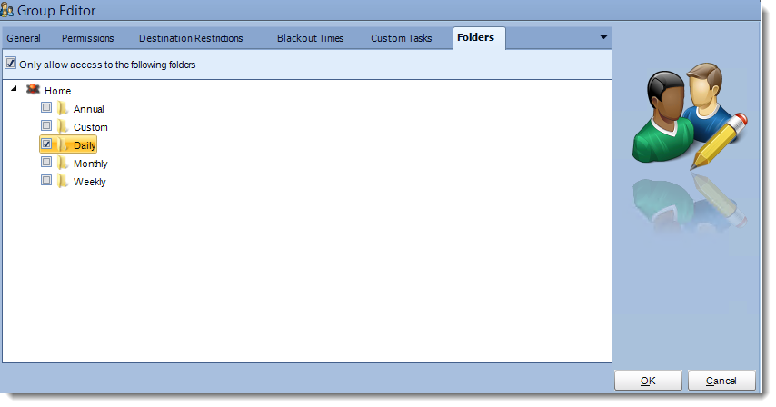 Crystal Reports: Group editor User Manager in CRD.