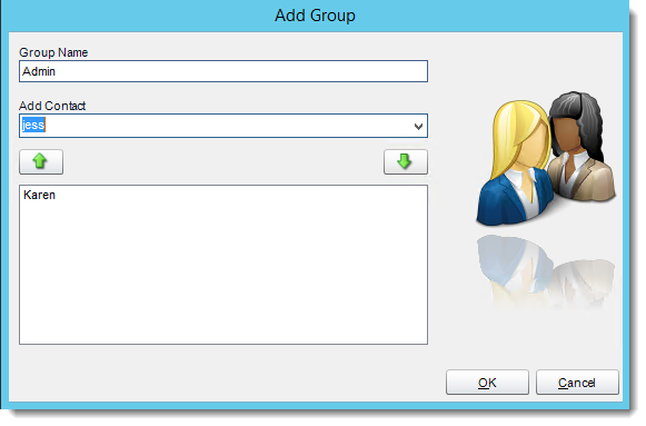 Crystal Reports: Adding a group in Address Book in CRD.