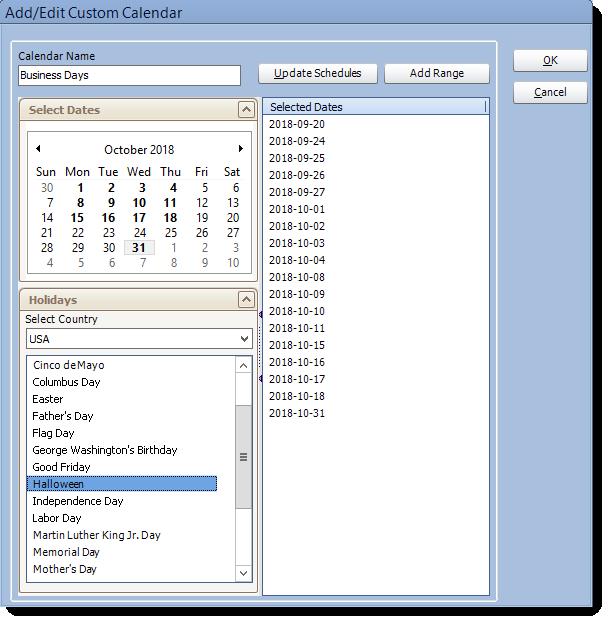 Crystal Reports: Add/Edit Custom Calendars in CRD.