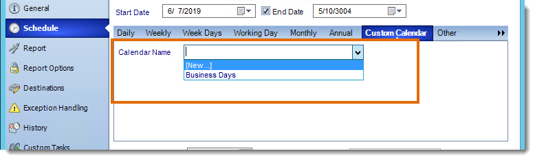 Crystal Reports: Applying Custom Calendars in CRD.