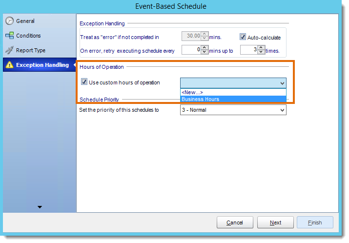 Crystal Reports: Applying Operational Hours in CRD.