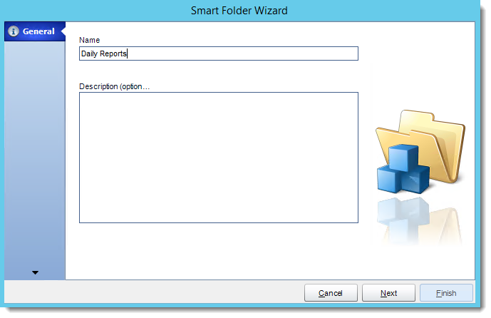 Crystal Reports: General Wizard in Smart Folders in CRD.