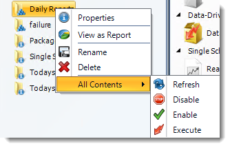 Crystal Reports: Smart Folders Context Menu in CRD.