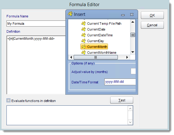 Crystal Reports: User Constant Formula Editor in CRD.