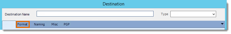 Crystal Reports: Format section in Destination in CRD.