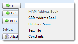 Crystal Reports: Email Destination in CRD.