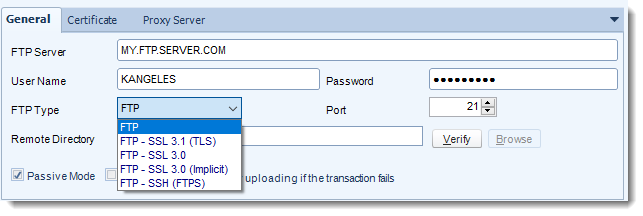Crystal Reports: FTP Destination in CRD.