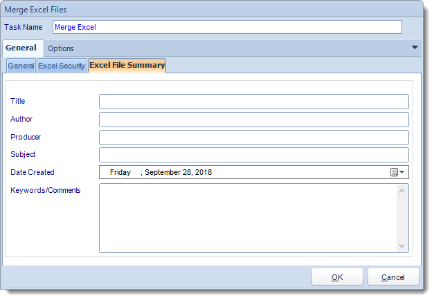 MS Access. Custom Tasks: Merge Excel Files in MARS.