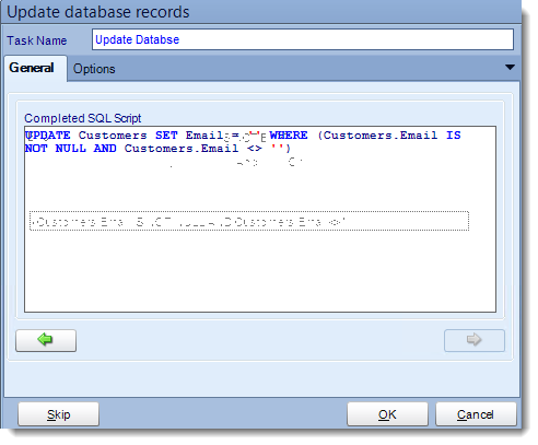 Crystal Reports: Update a record tasks in CRD.