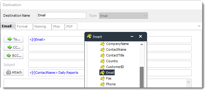 Power BI and SSRS. Destination Wizard in Data Driven Schedule in PBRS