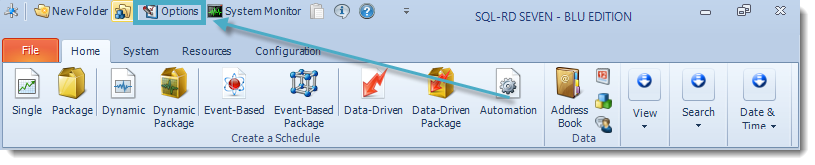 SSRS. SQL-RD Home Menu