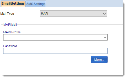 MS Access: MAPI Email Settings section in Option MARS.