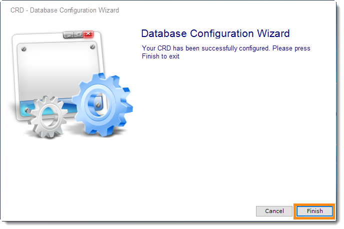 Crystal Reports: CRD Database Configuration Wizard