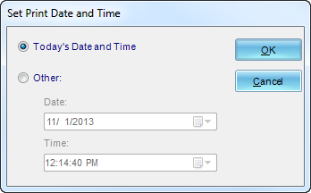 Crystal Reports: Set Print Date and Time in General in Options in CRD.