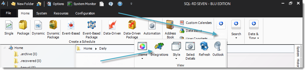 SSRS Report: Home Screen in SQL-RD.