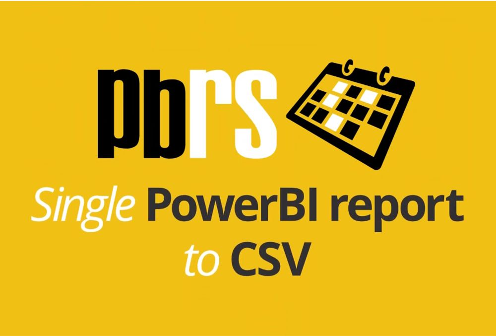 Power BI Tutorial: Scheduling Reports to CSV Format