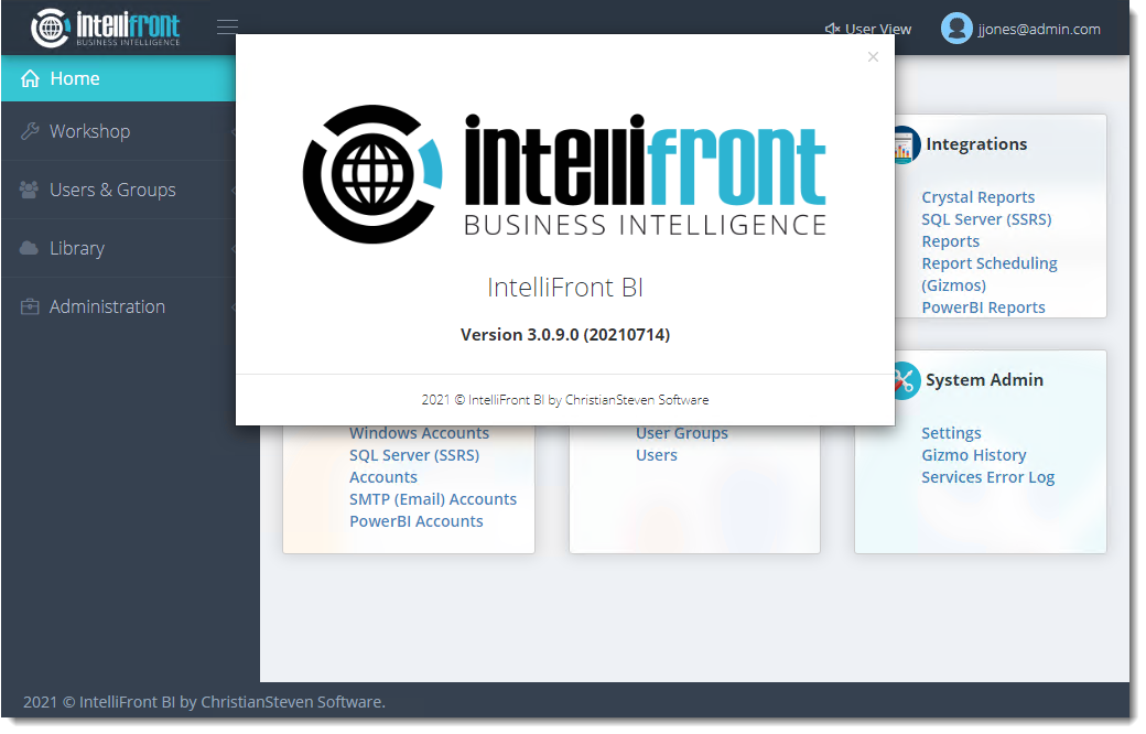 IntelliFront BI Release 20210714 Now Available
